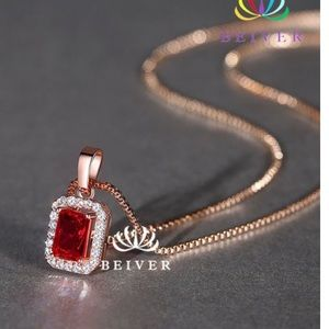 Jewelry - ❤️Luxury Red CZ Pendent Necklace❤️